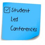 Student Led Conference post it note