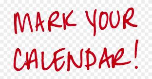 Mark your calendar!